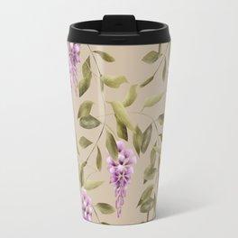 Seamless floral retro pattern background flowers Travel Mug