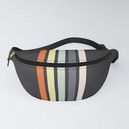 Colorful Retro Stripes Black VII Fanny Pack