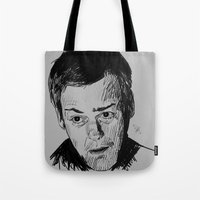 greg guillemin Tote Bags featuring Greg Lestrade Sketch by Soyarts