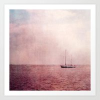 ship Art Prints featuring ship by Claudia Drossert