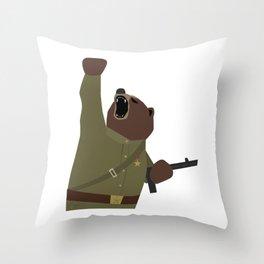 Soviet bear red army infantry ww2 Throw Pillow