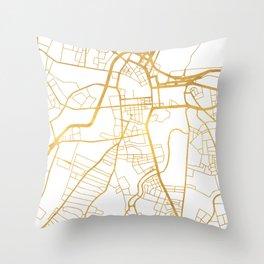 BELFAST UNITED KINGDOM CITY STREET MAP ART Throw Pillow