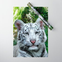 White Tiger Wrapping Paper