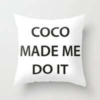 coco Throw Pillows featuring Coco  by RadFads