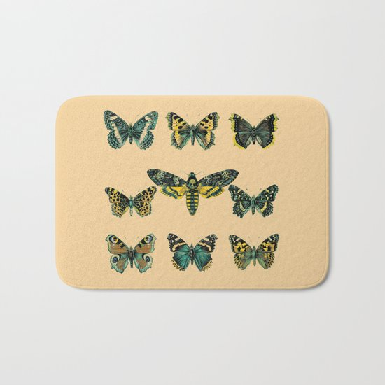 Butterflies and Moth of Europe Bath Mat