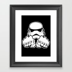 Dark Side Knuckle Framed Art Print