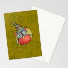 Puki Owl - mustard Stationery Cards