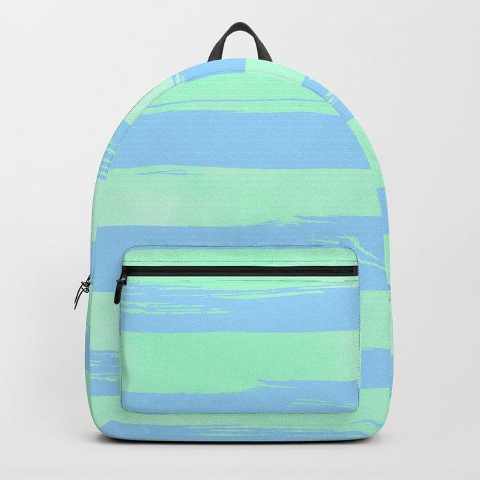 Trendy Stripes Blue Raspberry + Mint Meringue Backpack