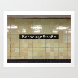 Berlin U-Bahn Memories - Bernauer Straße Art Print