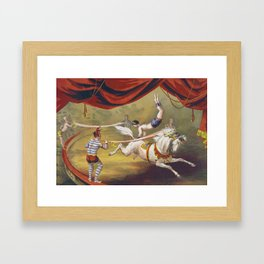 Banner Act - Vintage Circus Art, 1873 Framed Art Print