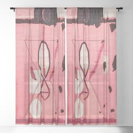 Traditional Moroccan Style Vintage Bohemian Lovely Artwork Sheer Curtain