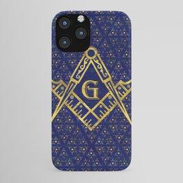 Freemasonry symbol Square and Compasses iPhone Case