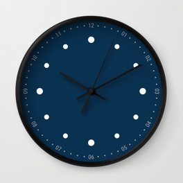Preciso - Blue Wall Clock