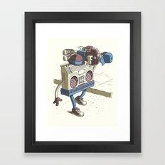 Human Boombox Framed Art Print