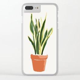 Sansevieria plant Clear iPhone Case