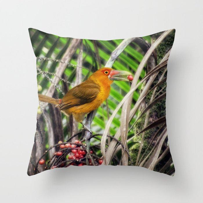 Acari-banana - fauna & flora line Throw Pillow