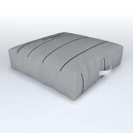 Library Card BSS 28 Gray Outdoor Floor Cushion