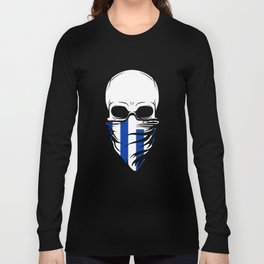 Uruguay Skull Shirt - Uruguay Long Sleeve T-shirt