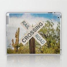 Railroad sign Laptop & iPad Skin
