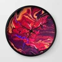 royal Wall Clocks featuring Royal by Claire Day