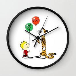calvin and hobbes ballon Wall Clock
