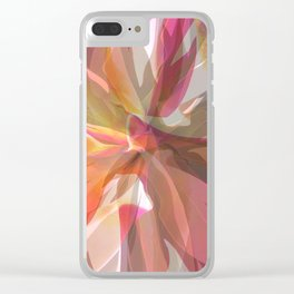 Coral Spiral Geometric Petals Clear iPhone Case