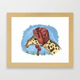 Fancy Giraffe Framed Art Print
