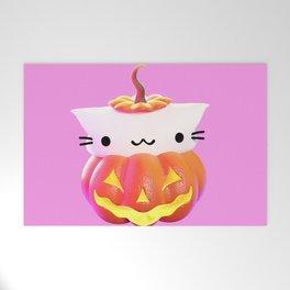 Pumpkin Cat Welcome Mat
