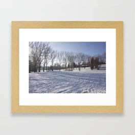 Snowy field Framed Art Print
