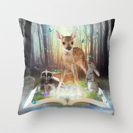 Believe In Magic • (Bambi Forest Friends Come to Life) Throw Pillow