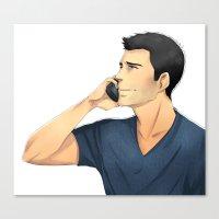 derek hale Canvas Prints featuring Derek by Autumnleaves