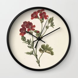 M. de Gijselaar - Red Flower (1830) Wall Clock