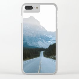 Icefields Parkway Sunset Clear iPhone Case
