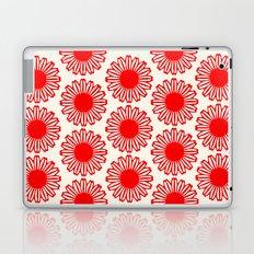 vintage flowers red Laptop & iPad Skin