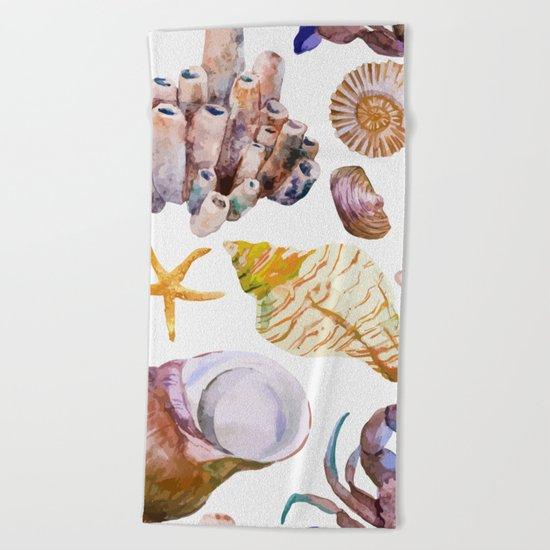 Sea Life Pattern 12 Beach Towel