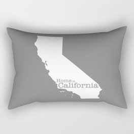Home is California - state outline in gray Rectangular Pillow