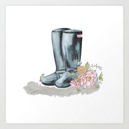 Spring Rain Boots Art Print