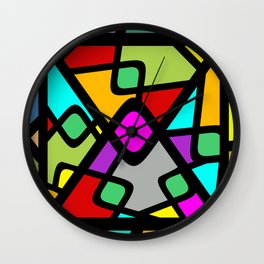 Color Abstract Pattern Wall Clock
