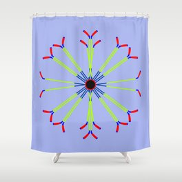 Ice Hockey Stick Design Shower Curtain