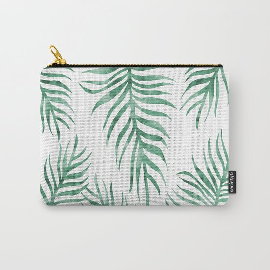 Fern Pattern Green Carry-All Pouch