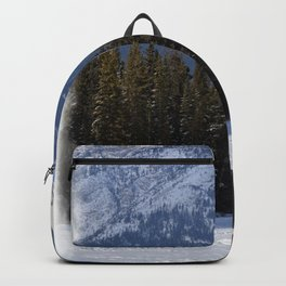 """""""Banff Wolf in Winter with Mt Cascade"""" Backpack"""