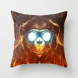Monksmith II Throw Pillow