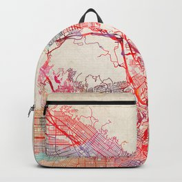 Glendale map California painting Backpack