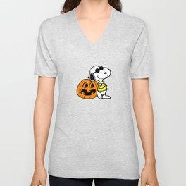 Joe Cool Cute Halloween Unisex V-Neck