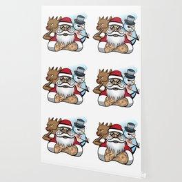 Santa's Crew Wallpaper