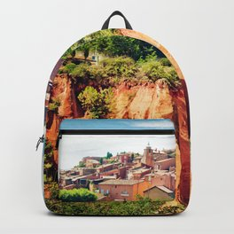 Roussillon famous for its ochre hills, Provence, France Backpack