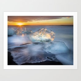 Diamonds in the Sun Iceland Art Print