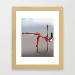 Bestiaire Yoga'flamingo Framed Art Print