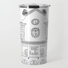 Storks on the Roof - Line Art Travel Mug