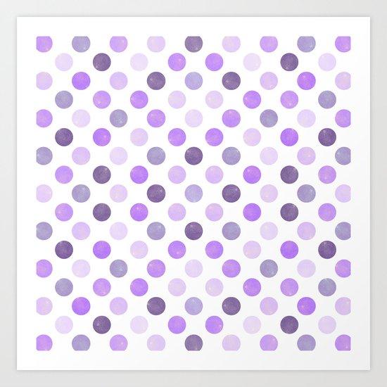 Watercolor Dots Pattern III Art Print